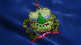 Государство анимации флага Вермонта безшовной закрепляя петлей развевая видеоматериал