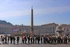 Государство Ватикан, государство Ватикана Деталь квадрата Sait Питер стоковые изображения rf