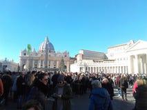 Государство Ватикан Рим квадрата St Peter стоковые фото