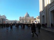 Государство Ватикан Рим церков St Peter стоковые фотографии rf