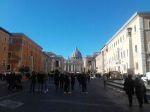 Государство Ватикан Рим церков St Peter стоковое фото