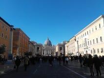 Государство Ватикан Рим церков St Peter стоковые фото