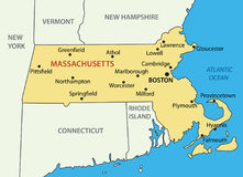 Государство Массачусетса - карты вектора иллюстрация штока