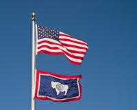 государство флага Вайоминг стоковая фотография rf