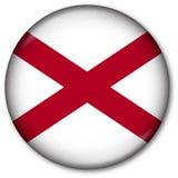 государство флага кнопки Алабамы Стоковая Фотография