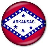 государство флага кнопки Арканзаса Стоковая Фотография RF