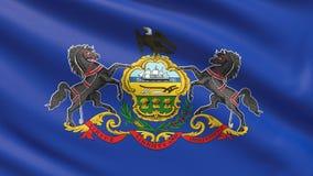 Государство флага Пенсильвании положения флагов США стоковое изображение