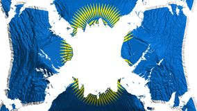 Государство флага сорванного нациями порхая в ветре иллюстрация штока