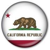 государство флага california кнопки Стоковые Изображения