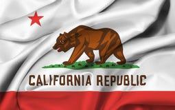 государство флага california Стоковая Фотография