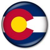государство флага colorado кнопки Стоковая Фотография