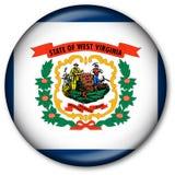 государство флага virginia кнопки западный Стоковая Фотография