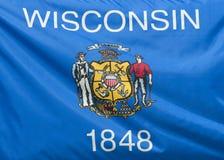 государство флага wisconsin стоковые фото