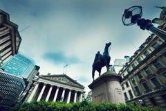 Государственный банк Англии, Королевская биржа. Лондон, Великобритания Стоковое Фото