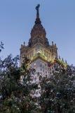 Государственный университет Lomonosov Москвы на зиме MGU Холмы воробья Россия стоковое изображение