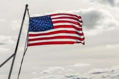 Государственный флаг сша в солнце Стоковое Фото