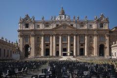 Государство Ватикан базилики St Peter Стоковое Изображение RF
