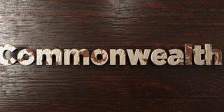 Государство - grungy деревянный заголовок на клене - представленное 3D изображение неизрасходованного запаса королевской власти иллюстрация вектора