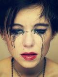 Готическая девушка Стоковые Фото