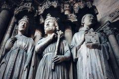 Готическая предпосылка с старыми королями и Святыми Стоковое фото RF