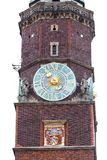 Готическая ратуша Wroclaw старая на рыночной площади, башне с часами, Wroclaw, Польше Стоковая Фотография RF