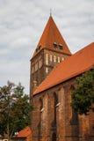 Готическая церковь в историческом центре Greifswald Стоковое Изображение RF
