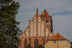 Готическая церковь в историческом центре Greifswald Стоковая Фотография