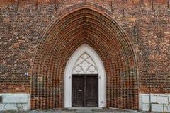 Готическая церковь в историческом центре Greifswald Стоковая Фотография RF