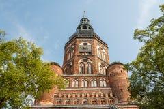 Готическая церковь в историческом центре Greifswald Стоковые Фотографии RF