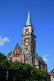 Готическая церковь St Giles в Nymburk Стоковые Фото