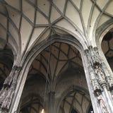 Готические своды в St Stephen & x27; церковь s, вена, Австрия Стоковое Изображение RF