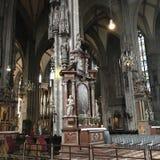 Готические своды, St Stephen & x27; церковь s, центр города вены, Австрия Стоковые Фото