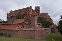 Готический замок Мальборка стоковое фото rf