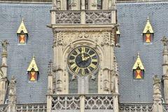 Готический здание муниципалитет Oudenaarde, Бельгии Стоковые Фотографии RF