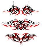 Готический комплект татуировки стиля Стоковое фото RF