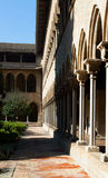 Готический монастырь монастыря Pedralbes Стоковые Изображения