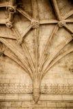 Готический потолок с ребристым vaulting Стоковые Фотографии RF