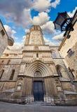 Готический собор в Барселоне, Каталонии, Испании стоковое изображение rf