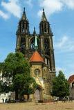 Готический собор Meissen - построил нескольк 100 лет ag Стоковые Изображения RF