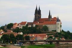 Готический собор Meissen - построил нескольк 100 лет ag Стоковое Изображение