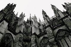 Готический стиль собора Кёльна, Германия стоковое фото rf
