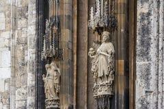 Готическое украшение собора Ulm стоковое изображение