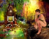 Готическое фоновое изображение девушки Стоковые Изображения RF