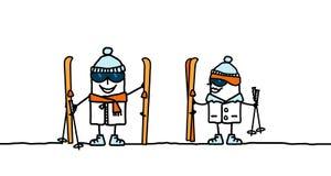 готовая лыжа к Стоковое Изображение RF