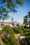 Готская церковь в Kutna Hora, чехии. ЮНЕСКО. Стоковое Фото