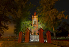 Готская церковь на ноче Стоковые Фото