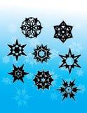 готские снежинки 1 Стоковые Фотографии RF