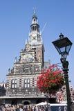 Готский веся дом в Алкмаре, Нидерландах Стоковая Фотография RF
