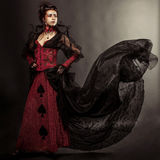 Готский портрет девушки модели стиля Стоковое Изображение
