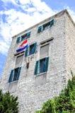 готское окно стены старого типа дома Стоковое Фото